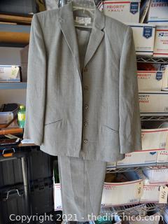 Larry Levine Gray Suit 12 Womens