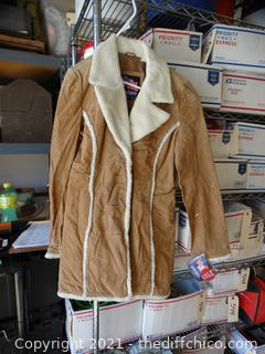 Small Tan Leather Coat