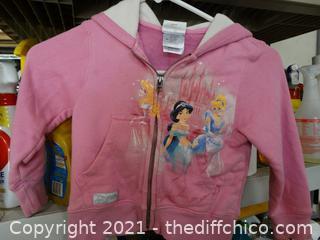 Disney Princess Zip Up Sweatshirt XS