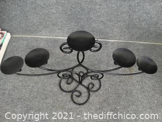 Black Candle Holder Center Piece