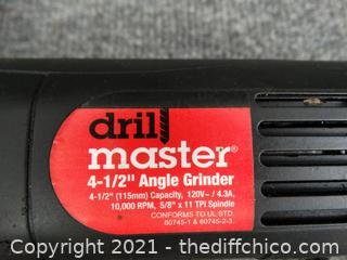 "Drill Master 4 1/2 "" Angle Grinder Wks"