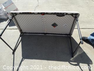 Folding Plastic Adjustable Table 4ft x 2ft