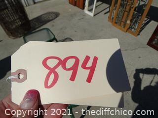 """Green Framed Side Table 16"""" x16"""""""