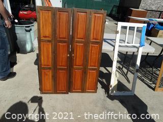 """3 Cabinet Doors 2-4ft x 17""""       1- 44"""" x 16"""" 1/2"""""""