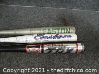 3 Baseball bats
