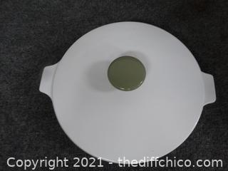 Vintage Corning Ware Skillet  With Lid