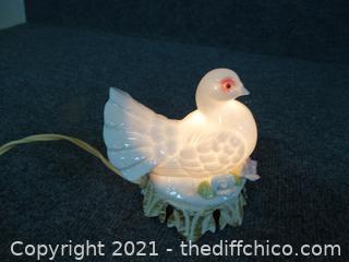 Vintage Dove Night Light wks