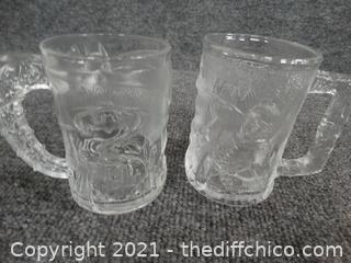1995 McDonalds Batman, Robin, Riddler Cups