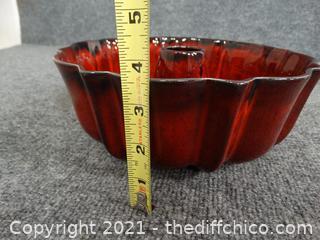 USA Vintage Ceramic Bunt Pan