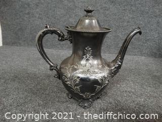 Homan Silver Plate Co Coffee Pot