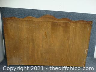 "Wood Wall Shelf 40"" x 5"" x 25"""