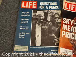 1971-1972 Life Magazines