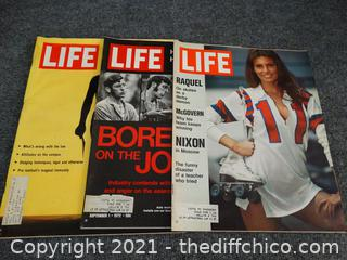 Life Magazines 1972 & 1966 & ?