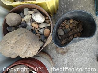 2 Buckets Of Rocks