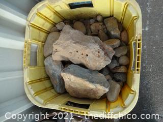 Yellow Bucket Of Rocks