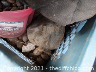 Blue Crate Of Rocks