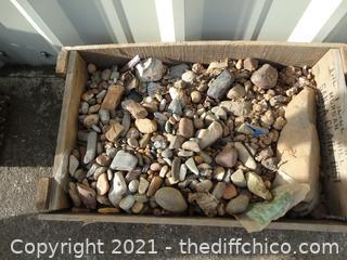 Wood Crate Of Rocks