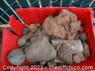 Red Crate Of Rocks