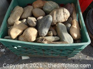 Green Crate Of Rocks
