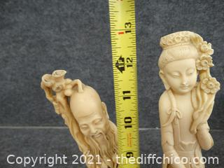 2 Oriental Statues