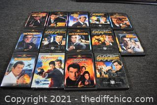 14 007 Collectible DVD's