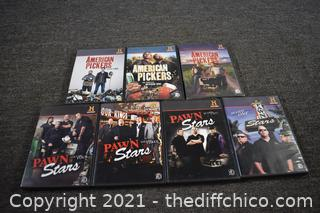 Pawn Stars and American Pickers DVD's