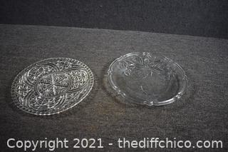2 Glass Platters
