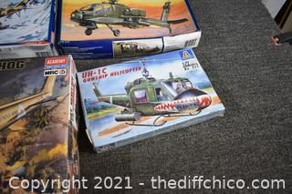 New Un-assemble Helicopter Models