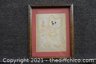 Framed Happy Birthday Bear
