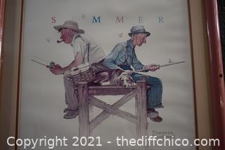 Framed Norman Rockwell Print