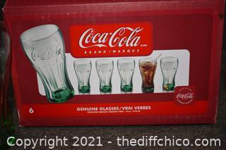 NIB coca Cola Collectible Glasses