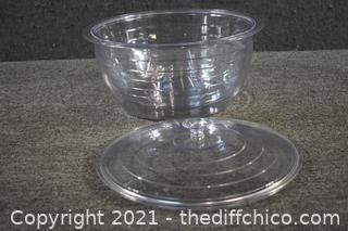 Plastic Serving Bowl s/lid