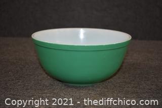 Vintage Green Pyrex Bowl