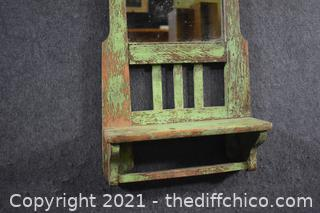 Vintage Wall Hanging Shelf / Mirror