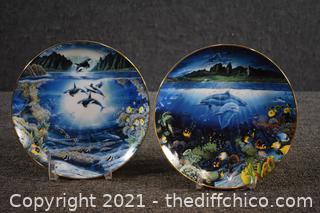 2 - 8in Collectible Danbury Mint Plates