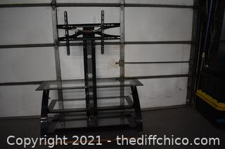 3 Tier Zline Glass TV Stand