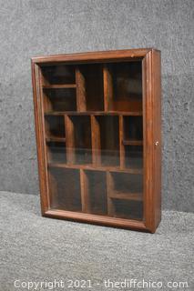 Shadow Box Wall Hanging w/glass door