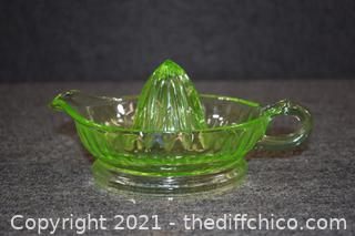 Green Glass Juicer