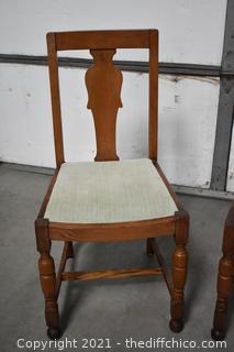 2 Vintage Oak Chairs