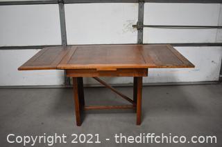 Vintage Oak Draw Leaf Table