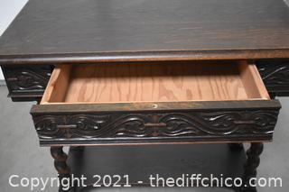 Vintage Barley Twist Table w/drawer