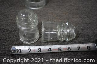 3 Glass Insulators