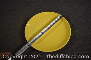Made in USA Yellow Plate