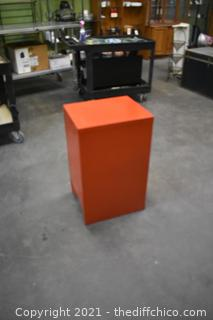 Red 2 Drawer File Cabinet