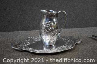 Lenox Butterfly Meadow Tray and Pitcher