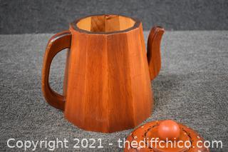 Wood Tea Pot