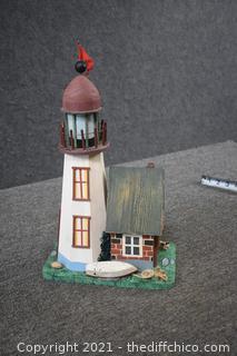 Wood Light House Decoration