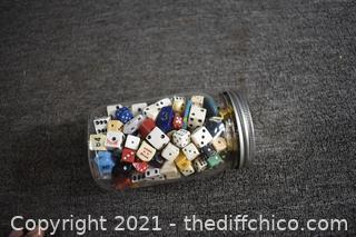 Jar of Vintage Dice