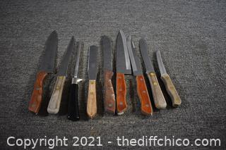 Assortment of Kitchen Knives