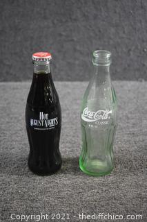 2 Coca Cola Collectible Bottles